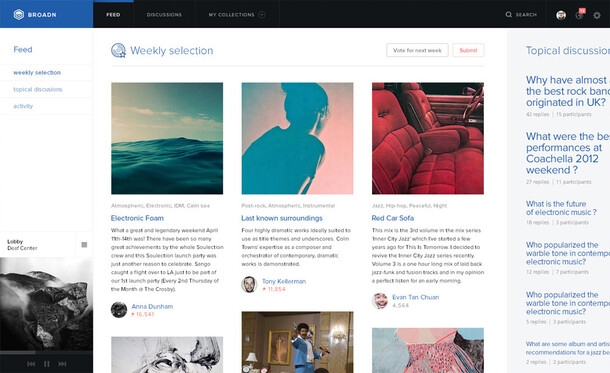 Broadn — Discover music together