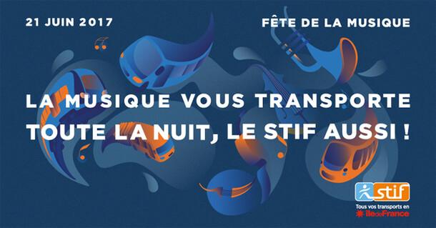 Campagne d'affichage du STIF à l'occasion de la fête de la musique