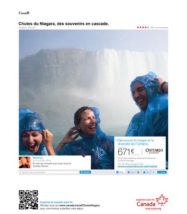 Campagne presse Office de Tourisme du Canada
