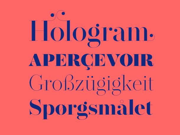Operetta type design