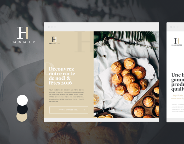 Art direction - French Bakery - UI & Print Design